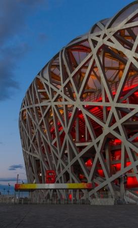 olympic stadium: The Beijing National Stadium, also known as the Bird s Nest