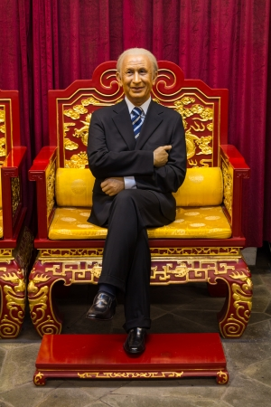 chairman: The wax statue of Juan Antonio Samaranch, former chairman of the international Olympic committee  IOC  located in Beijing National Stadium, China Editorial