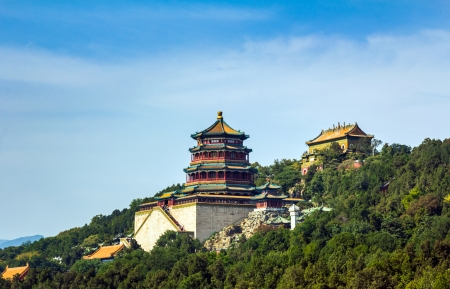 Tower of the Fragrance of the Buddha  Foxiang Ge  in Summer Palace in Beijing, China
