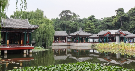Garden of harmonious interests in Summer palace, Beijing, China Editorial