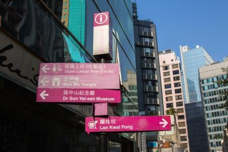 yat sen: Tourist destination signs in Hong Kong