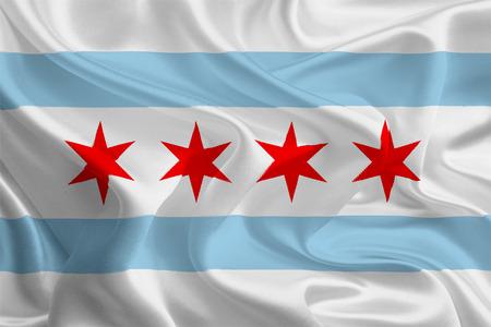 미국 도시 플래그 시카고, 일리노이