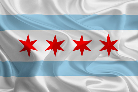 USA City Flags  Chicago, Illinois  Stock Photo