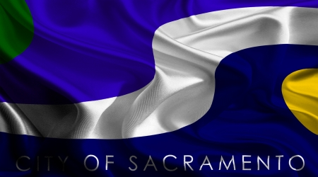 sacramento: USA City Flags  Sacramento Stock Photo