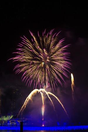 Fireworks Blast  Stock Photo