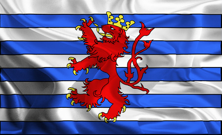 Waving Fabric Flag of Luxembourg  photo
