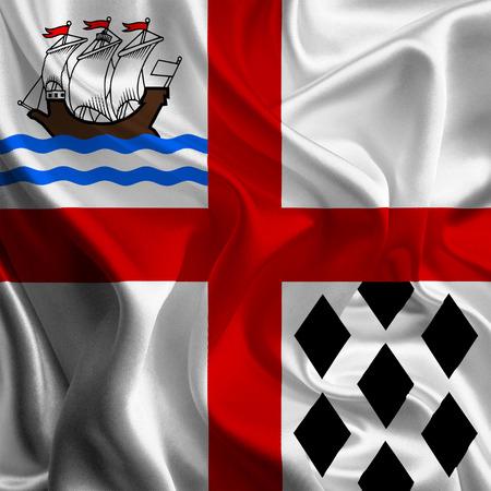 municipal: Canadian Municipal Flags  Nanaimo  Stock Photo