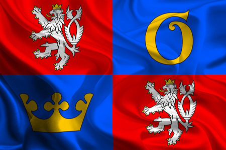 Flags of Regions of Czech Republic  Hradec Kralove  photo