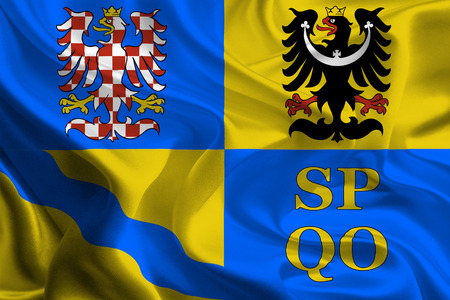 olomouc: Flags of Regions of Czech Republic  Olomouc  Stock Photo