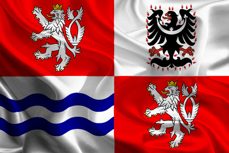 Flags of Regions of Czech Republic  Central Bohemia  photo
