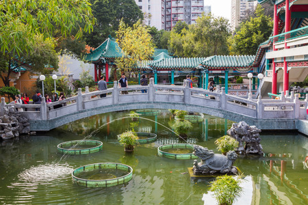 Chinese Garden in Sik Sik Yuen Wong Tai Sin TempIt is one of the largest and commemorates the famous monk of yore, Wong Tai Sin  also known as Huang Chu-ping  e in Hong Kong