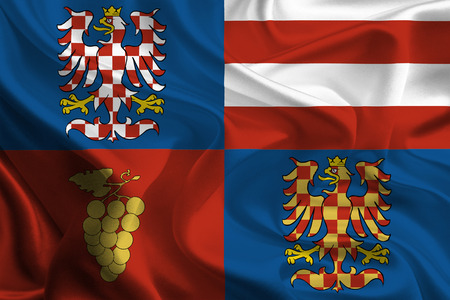 foreign land: Flags of Regions of Czech Republic  South Moravian