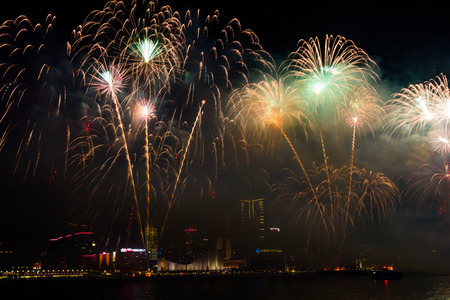 Fireworks Show in HongKong photo