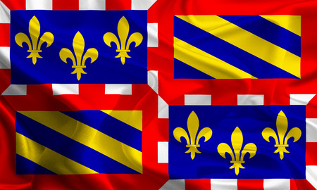 holand: Flags of Regions of France  Burgundy Stock Photo