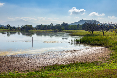 Beautiful Lake in Hong Kong Wetland Park  photo