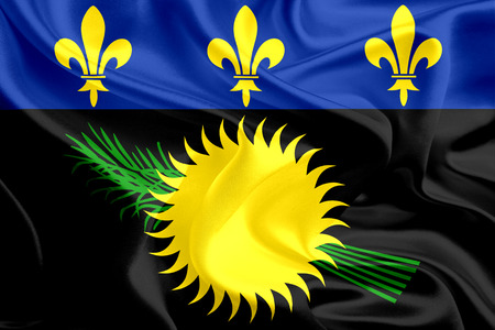 unofficial: Flags of French Overseas regions  Guadeloupe  unofficial  Stock Photo