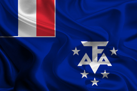 the antarctic: Flags of French Overseas territories  French Southern and Antarctic Lands Stock Photo