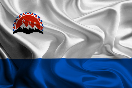 kamchatka: Bandiera della Kamchatka Krai Archivio Fotografico