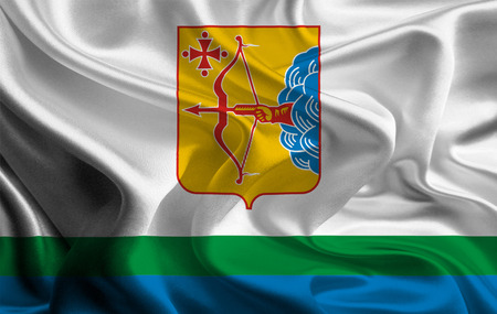 kirov: Flag of Kirov Oblast Stock Photo