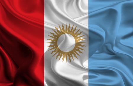 argentine: Argentine Province Flags  Cordoba Stock Photo