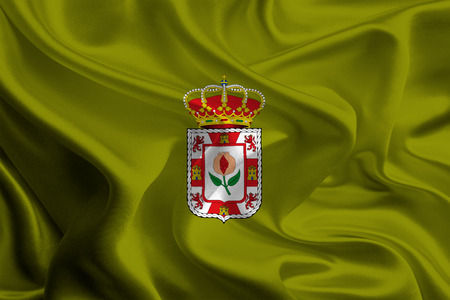 foreign land: Flags of Provinces of Spain  Granada Stock Photo