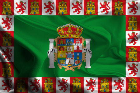 foreign land: Flags of Provinces of Spain  Cadiz Stock Photo