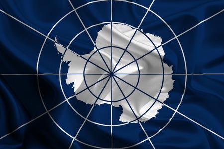antarctic: Flag of the Antarctic Treaty Stock Photo