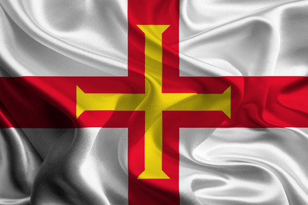 Flag of British Crown Dependency Guernsey