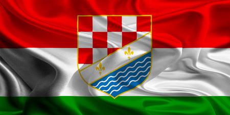 entities: Flag of Posavina Canton of the Federation of Bosnia and Herzegovina Stock Photo