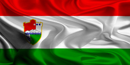 canton: Flag of Central Bosnia Canton of the Federation of Bosnia and Herzegovina Stock Photo