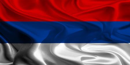 republika: Flag of Republika Srpska of the Federation of Bosnia and Herzegovina Stock Photo