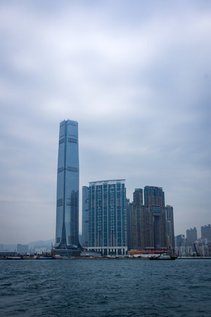 icc: The International Commerce Centre in West Kowloon in Hong Kong, China