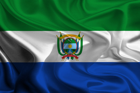 colombian: Flag of Colombian Department Guaviare Stock Photo