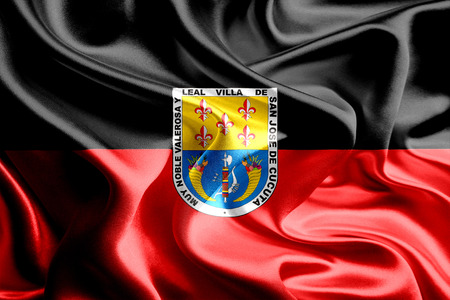 colombian: Flag of Colombian City, Cucuta Stock Photo