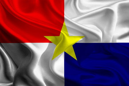 colombian: Flag of Colombian City, Monteria Stock Photo