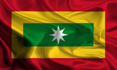 colombian: Flag of Colombian City, Barranquilla