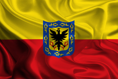 Flag of Colombian City Bogota, D C  photo