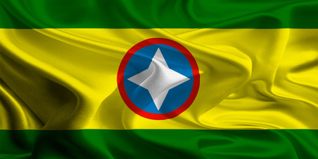 Flag of Colombian City, Bucaramanga photo