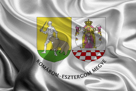 Flag of Hungarian Komarom-Esztergom County  photo