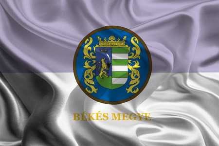 county: Flag of Hungarian Bekes County  Stock Photo