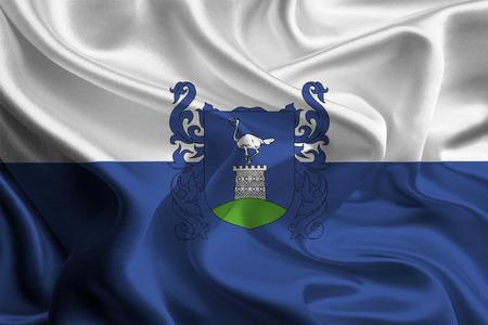 vas: Flag of Hungarian Vas County  Stock Photo