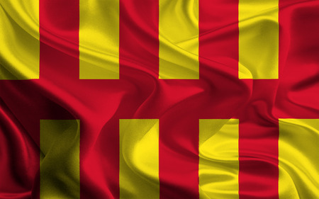 canton: Flag of Northumberland Stock Photo