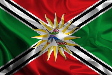 Flag of Santo Domingo de Los Tsachilas Province, Ecuador Stock Photo