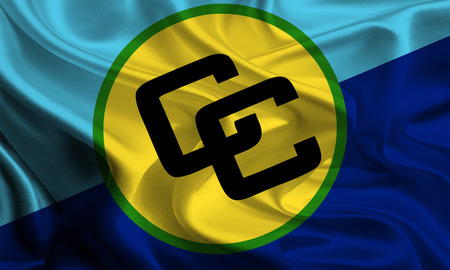 foreign nation: Waving Flag of Caribbean Community