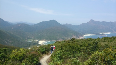 Hiking in MacLehose Trail in Hong Kong