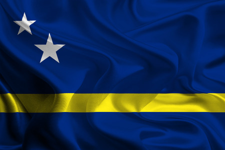 foreign land: Flag of Curacao Stock Photo