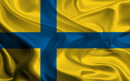 unofficial: unofficial flag of The traditional county Ostergotland, sweden Stock Photo