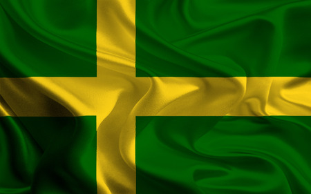 oland: unofficial flag of island oland, sweden Stock Photo