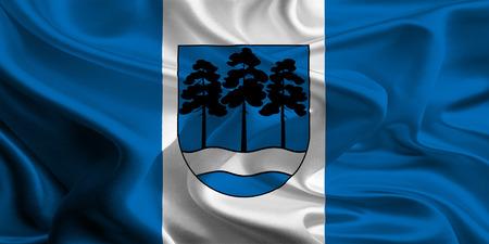 ogre: Flag of Ogre District, Latvia