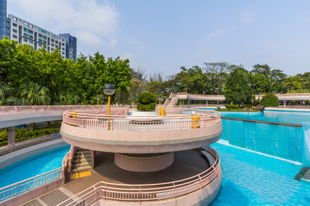 sham: The Shek Kip Mei Park is one of the largest parks with a total area of about 8 hectares in Sham Shui Po District   Stock Photo